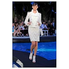 Chanel-5K$ Camellias Runway Jacket-White