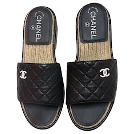Chanel-Chanel sandals-Black