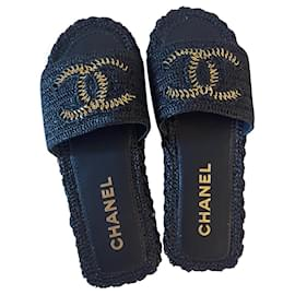 Chanel-FLIP FLOPS-Black