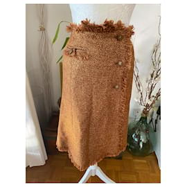 Chanel-Skirts-Brown