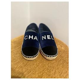 Chanel-Espadrilles-Black,Blue