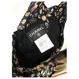 Chanel-CC logo Black Dress-Black