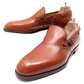 Christian Dior-NEW CHRISTIAN DIOR STEFANOBI LOAFERS WITH BUCKLE 9 43 Loafers-Brown
