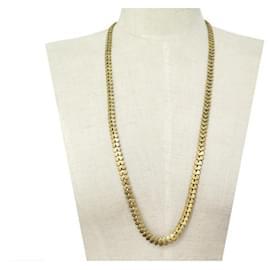 Chanel-VINTAGE CHANEL NECKLACE FOLIAGE MESH MAISON DESRUE GOLDEN METAL NECKLACE 1985-Golden