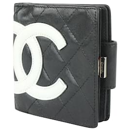 Chanel-Black Quilted Cambon CC Compact Wallet-Other