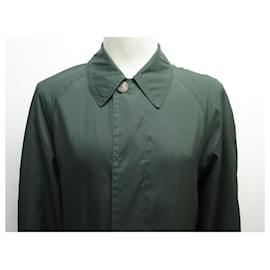 Hermès-NEW HERMES JACKET WATERPROOF JACKET S 46 GREEN NEW TRENCH JACKET-Green