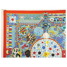 Hermès-NEW RARE HERMES SCARF IMPERIAL COLLECTIONS BASCHET SQUARE 90 SILK SCARF-Red