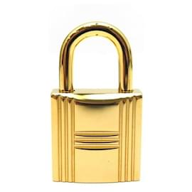 Hermès-NEW PADLOCKS HERMES + 2 KEYS FOR KELLY BIRKIN BAG IN GOLD METAL GOLD PADLOCK-Golden