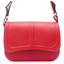 Hermès-NEW HERMES HANDBAG HARNESS IN RED LEATHER + NEW LEATHER HAND BAG BOX-Red