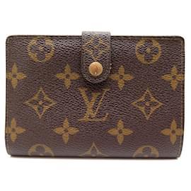 Louis Vuitton-LOUIS VUITTON VIENNESE WALLET MONOGRAM WALLET CANVAS COIN WALLET-Brown