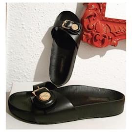 Louis Vuitton-Louis Vuitton sandals 36-Black,Golden