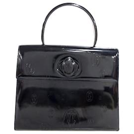 Cartier-Cartier Sac à main en cuir noir Happy Birthday-Noir