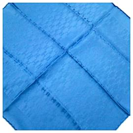 Hermès-Foulard en soie imprimée bleu Hermès-Bleu