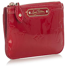 Louis Vuitton-Louis Vuitton Red Vernis Pochette Cles-Red