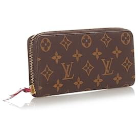 Louis Vuitton-Louis Vuitton Brown Monogram Zippy Wallet-Brown