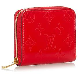 Louis Vuitton-Louis Vuitton Red Vernis Zippy Coin Pouch-Red