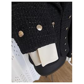 Chanel-Black tweed jacket-Black