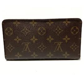 Louis Vuitton-Louis Vuitton Porte monnaie Zippy-Brown