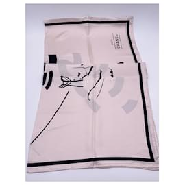 Chanel-Chanel Coco scarf 2021 light pink-Pink