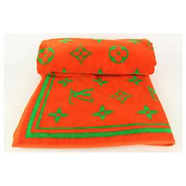 Louis Vuitton-Orange Vuittamins Monogram Beach Towel-Other