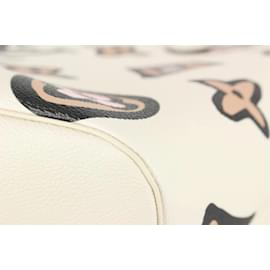 Louis Vuitton-Cream Wild at Heart Monogram Neverfull MM Tote with Pouch-Other