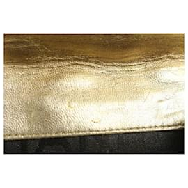 Chanel-Gold Quilted Lambskin Charm Compact Wallet-Other