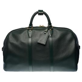 """Louis Vuitton-Very beautiful """"Kendall"""" travel bag in fir green taiga leather and fir green fabric, garniture en métal doré-Green"""