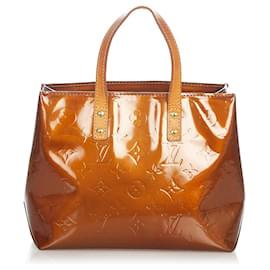 Louis Vuitton-Louis Vuitton Brown Vernis Reade PM-Brown,Light brown