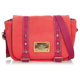 Louis Vuitton-Louis Vuitton Red Antigua Besace PM-Red,Purple