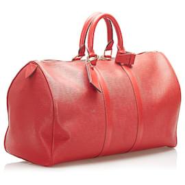 Louis Vuitton-Louis Vuitton Red Epi Keepall 45-Red