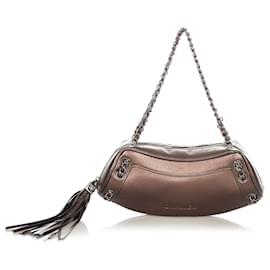 Chanel-Chanel Brown Leather Shoulder Bag-Brown,Bronze