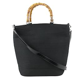 Gucci-Black Quilted Bamboo 2Way Tote Bag-Other