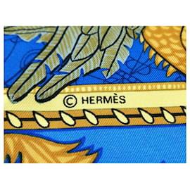 Hermès-HERMÈS CARRÉ-Bleu