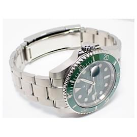 Rolex-ROLEX Green Submariner Ref.116610LV '15 receipt Genuine goods Mens-Silvery