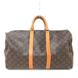 Louis Vuitton-Louis Vuitton Keepall Bandouliere 45-Brown