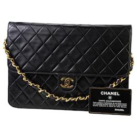 Chanel-Chanel flap bag-Black