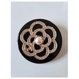 Chanel-Chanel camelia brooch-Black