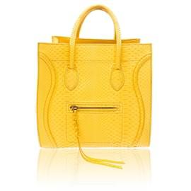 Céline-Python Medium Phantom Luggage-Yellow
