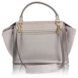 Céline-Trapeze Suede Wings Medium Bag-Grey