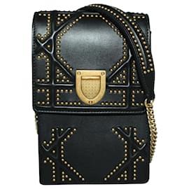 Dior-Diorama Black Vertical Shoulder Bag-Black