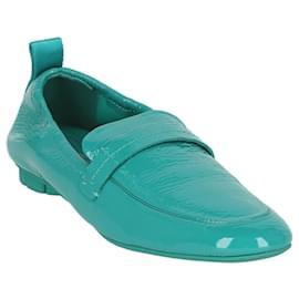 Salvatore Ferragamo-Lipari Leather Loafer-Blue