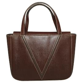 Valentino-Brown Vintage Small Handbag-Brown