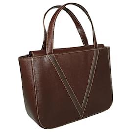 Valentino-Petit sac à main vintage marron-Marron