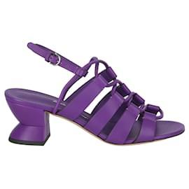 Salvatore Ferragamo-Sirmio Leather Sandal-Purple