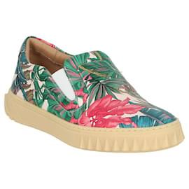 Salvatore Ferragamo-Floral Slip On Sneakers-Multiple colors