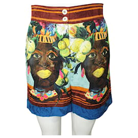 Dolce & Gabbana-African Print Shorts Spring Summer 2013-Multiple colors