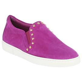 Salvatore Ferragamo-Spargi Slip On Sneakers-Purple