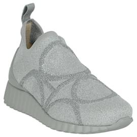 Salvatore Ferragamo-Wave Sole Sneakers-Grey