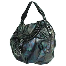 Gucci-Holographic Patent Leather Hobo Bag-Black
