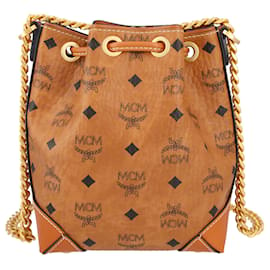 MCM-Shoulder Bag with LOGO-Brown